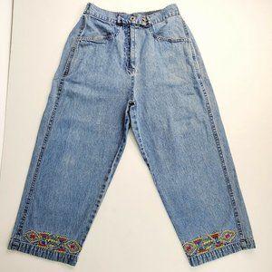 ESAZY Womens Jeans Capri Size S Blue Wash 100%